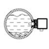 侧装: 当安装在管道侧面时,安装位置应避开沉淀物和空气。