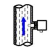 垂直安装: 当垂直安装时,应装在由下至上流动的管段上。