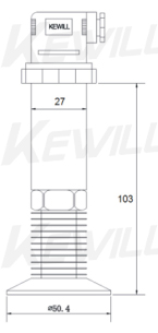 KAP20系列齐平膜式压力变送器尺寸图