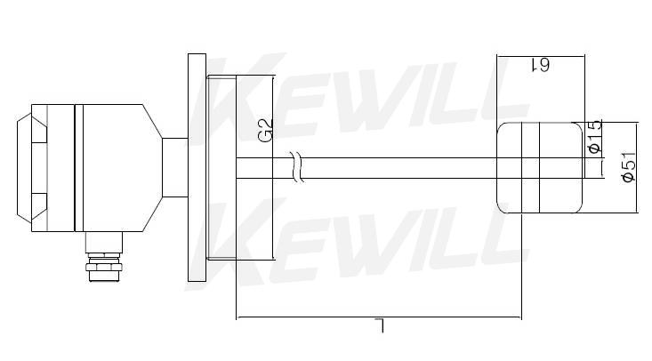 LV30浮球液位开关尺寸示意图