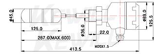 螺纹型连接尺寸示意图