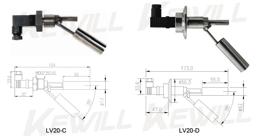 LV20系列侧装式液位开关