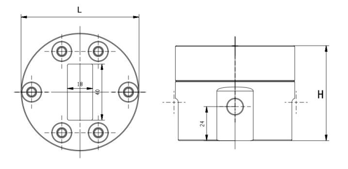 FG550容积齿轮流量计尺寸图